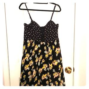 Polka Dot and Floral Corset Sundress